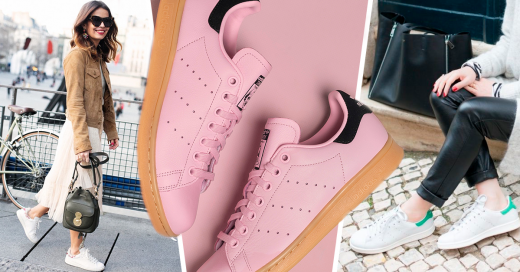 Adidas Stan Smiths In Cotton Candy