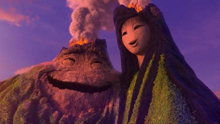 Escena del cortometraje de pixar I lava You