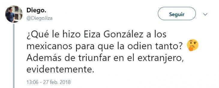 Comentarios en Twitter sobre el look de Eiza Gonzáles en los óscar