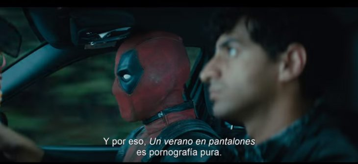 Escena del trailer de deadpool 2
