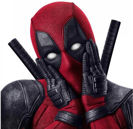 Deadpool tocandose el rostro