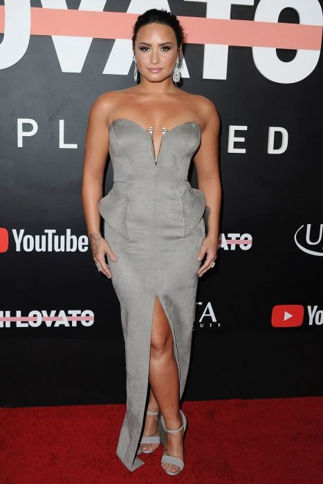 Demi Lovato en la presentación de su documental para Youtube