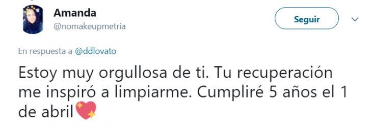 Comentarios en Twitter sobre la sobriedad de Demi Lovato