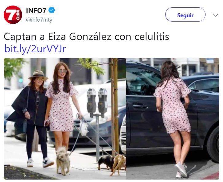 Criticas en Twitter a Eiza Gonzáles por su cuerpo