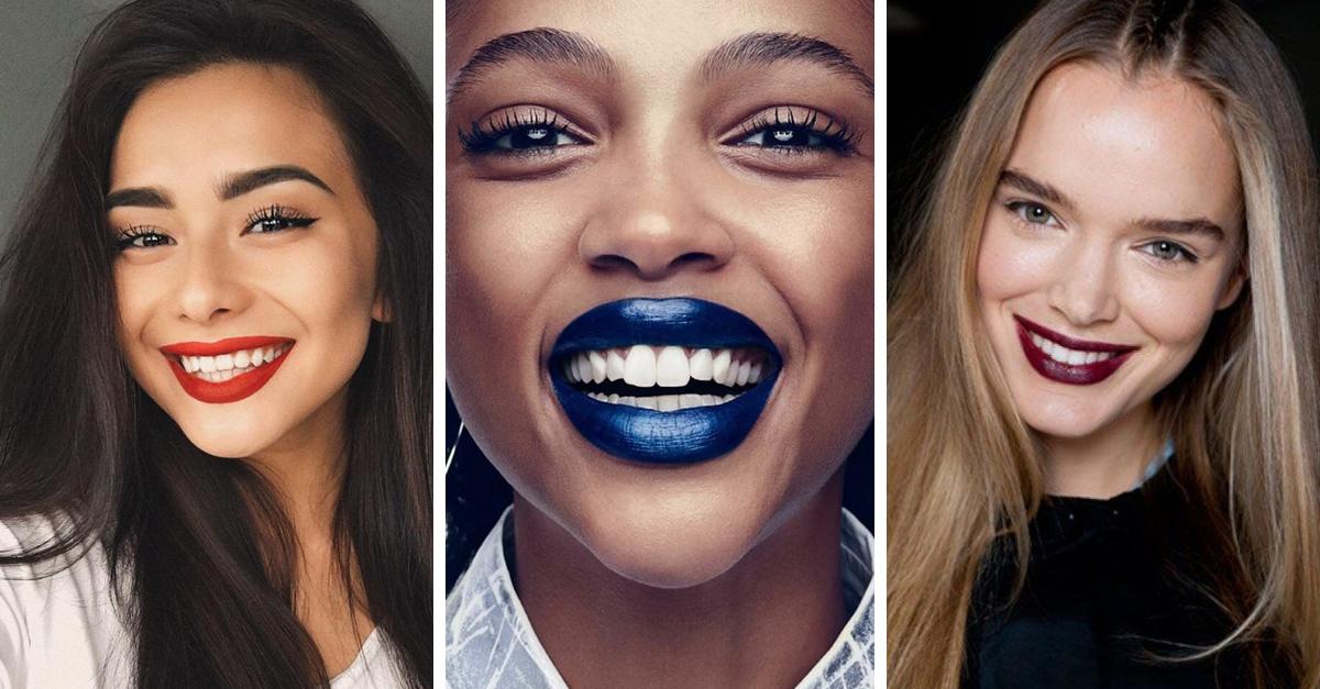 7 Colores de labiales perfectos para que tus dientes luzcan más blancos