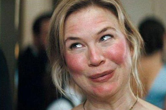 Bridget Jones con un maquillaje natural