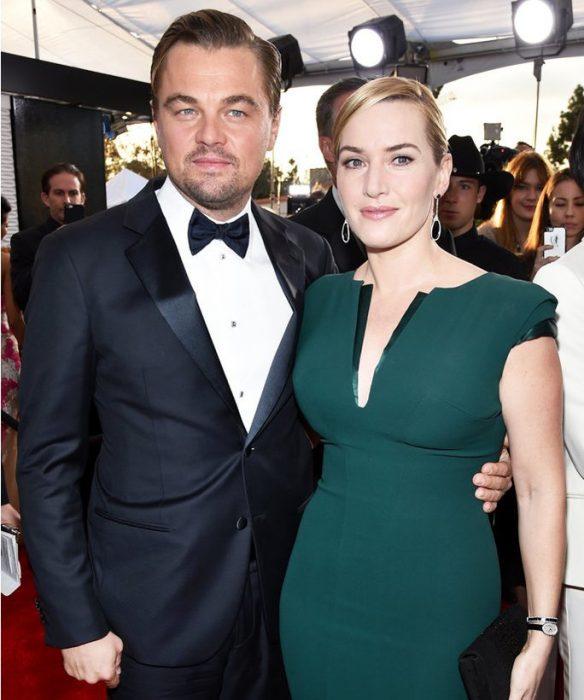 Kate Winslet y Leo DiCaprio juntos en los screen actors guild award