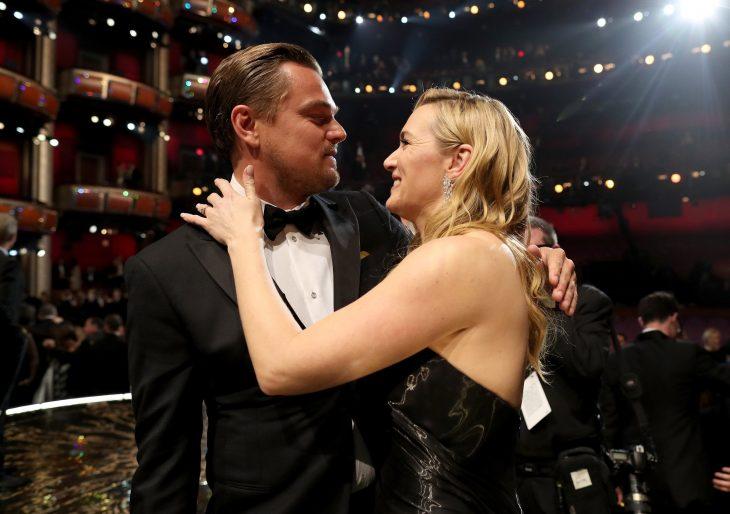 Kate Winslet y Leo DiCaprio juntos en los oscar 2016