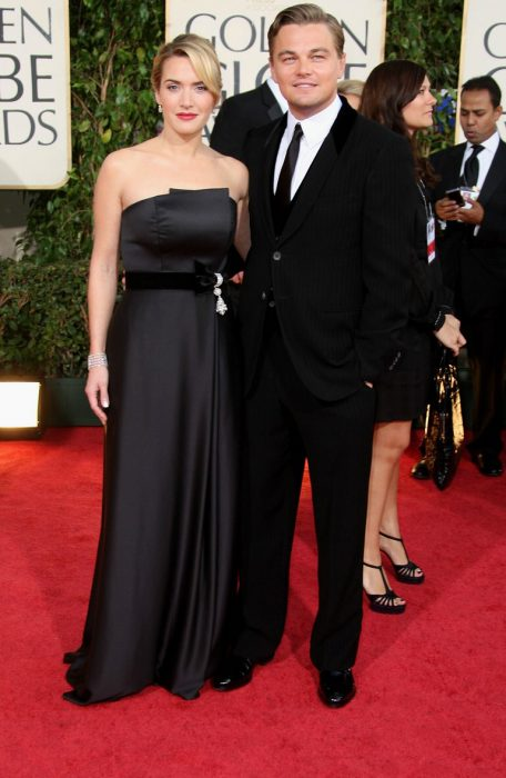Kate Winslet y Leo DiCaprio juntos en los globos de oro 2009