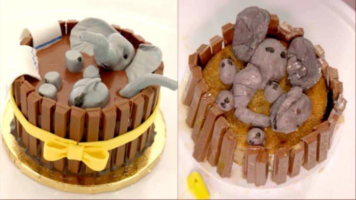 Espectativa vs realidad de un pastel mal hecho