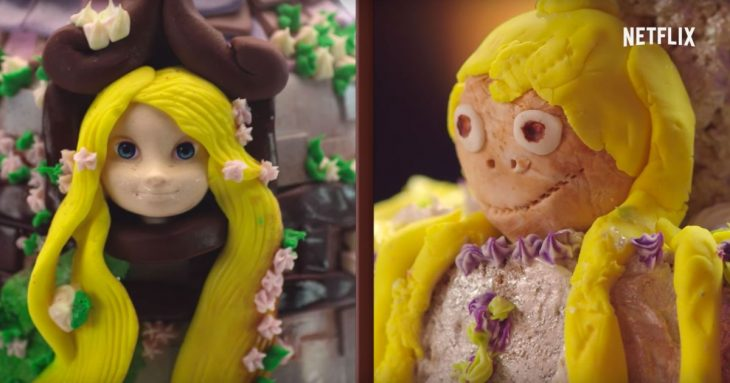 Pastel de una princesa vs el pastelmal hecho