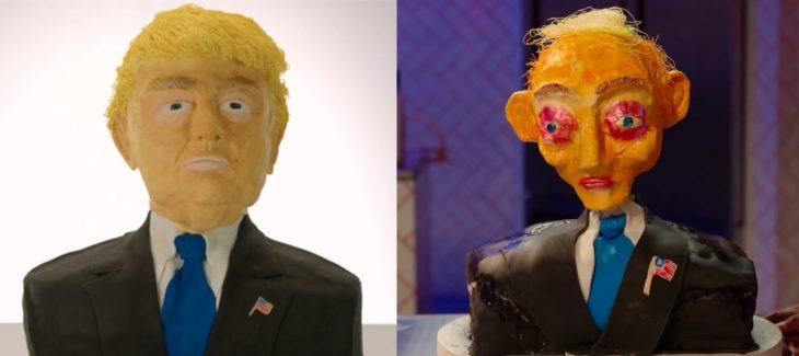 Pastel de Donald trump mal hecho