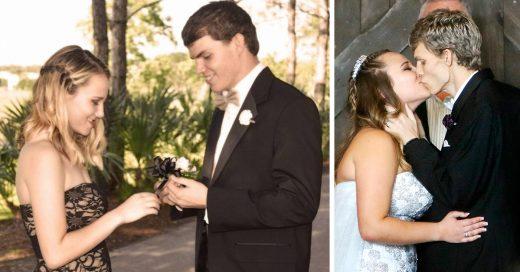 Logró casarse con su amor de secundaria a pesar del cáncer terminal