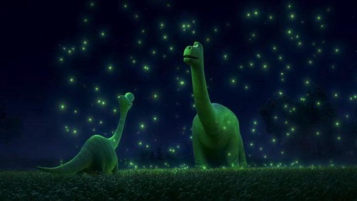Escena de la película Un gran dinosaurio