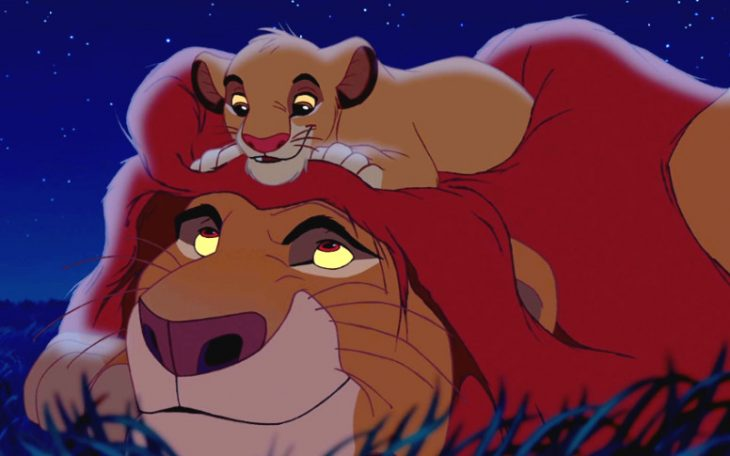 Escena de la película El Rey León
