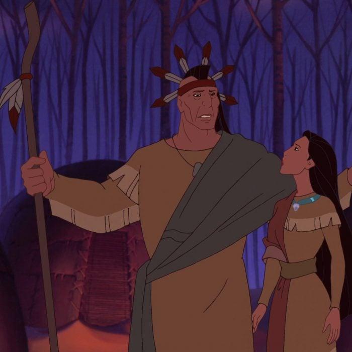Escena de la película Pocahontas