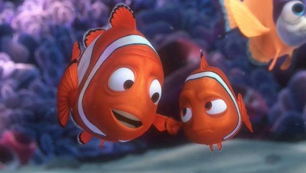 Escena de la película Buscando a Nemo