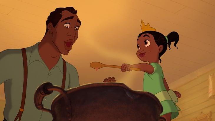Escena de la película La Princesa y el Sapo