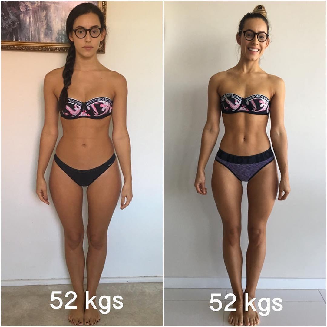 Cuerpo con grasa y sin grasa
