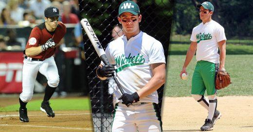 Nick Jonas demostró que lo suyo es jugar beisbol