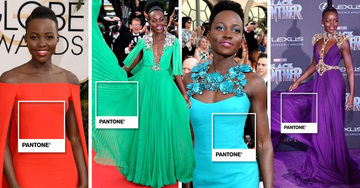 Pantone de alfombra roja; esta es la evolución de moda por colores con Lupita Nyong'o