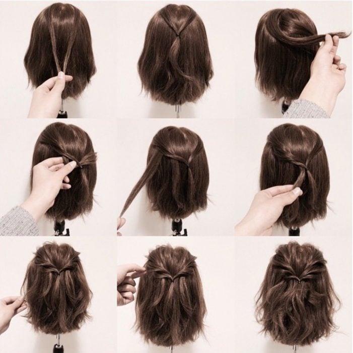 Tutorial para sujetar el cabello corto