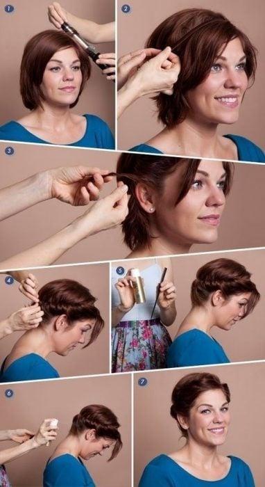 Tutorial de cabello corto para hacer un chongo