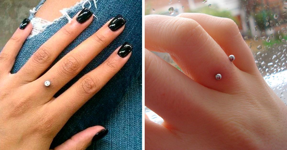 Piercings en los dedos como anillo de boda, locura que se ha vuelto viral