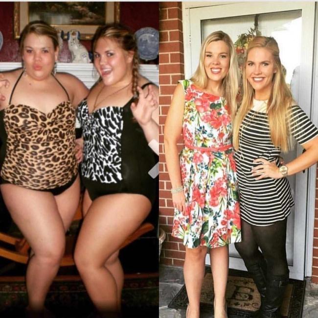 chicas antes y después de bajar de peso