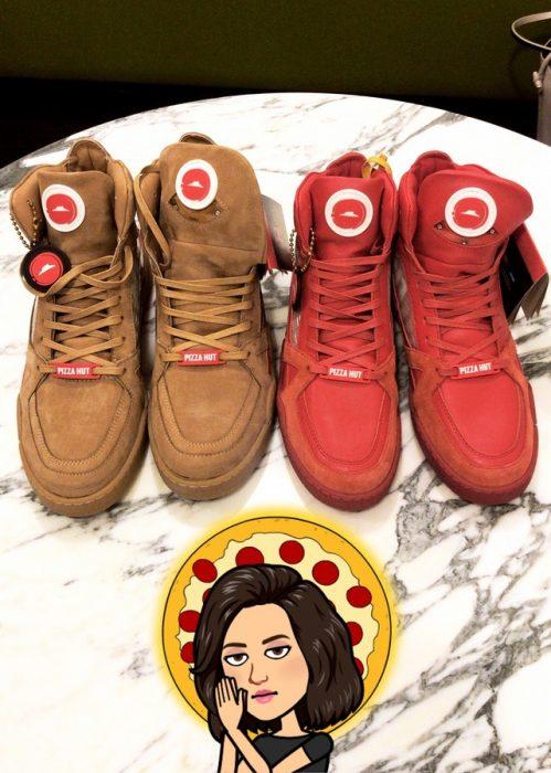 Zapatillas de Pizza Hut con las que puedes pedir una pizza presionando un botón