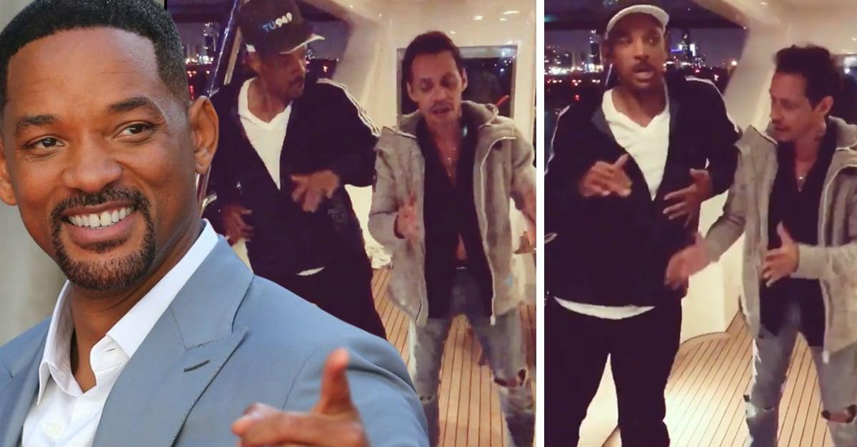 Will Smith bailó salsa junto a Marc Anthony