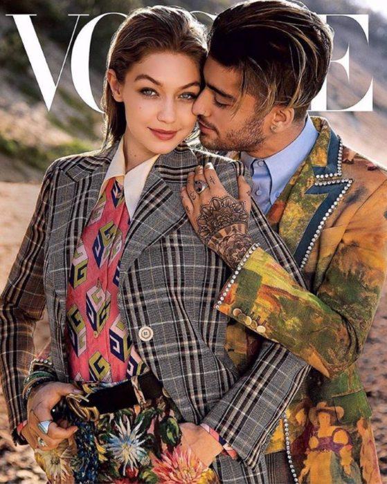 Zayn Malik y Gigi Hadid juntos en la portada de Vogue