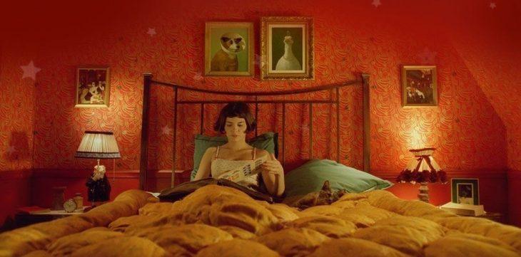 amelie en su cama