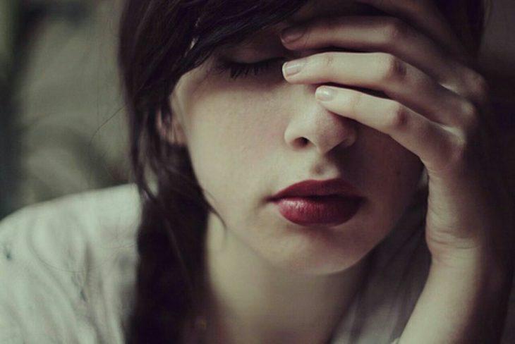 chica con estrés
