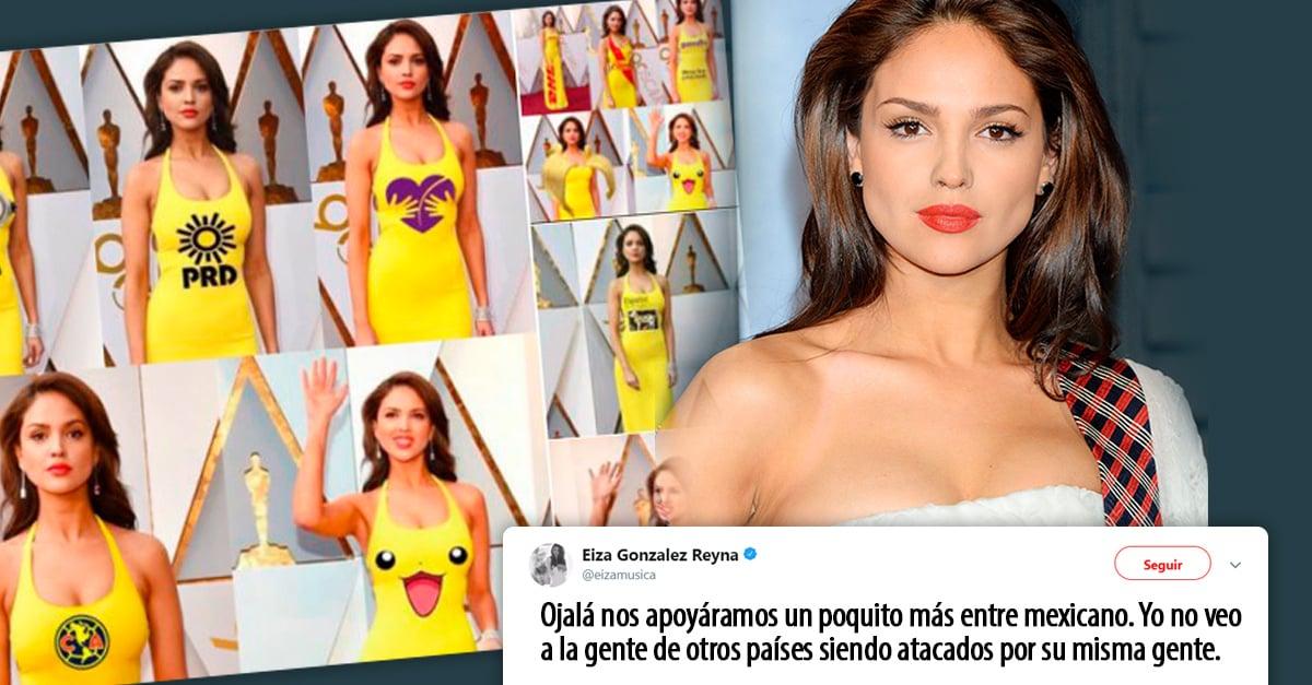 Eiza Gonzáles respondió a las criticas sobre su vestido e impacto con otro diseño