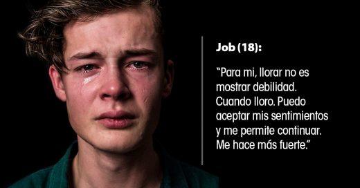 Los hombres reales lloran; los retratos que rompen estereotipos de género