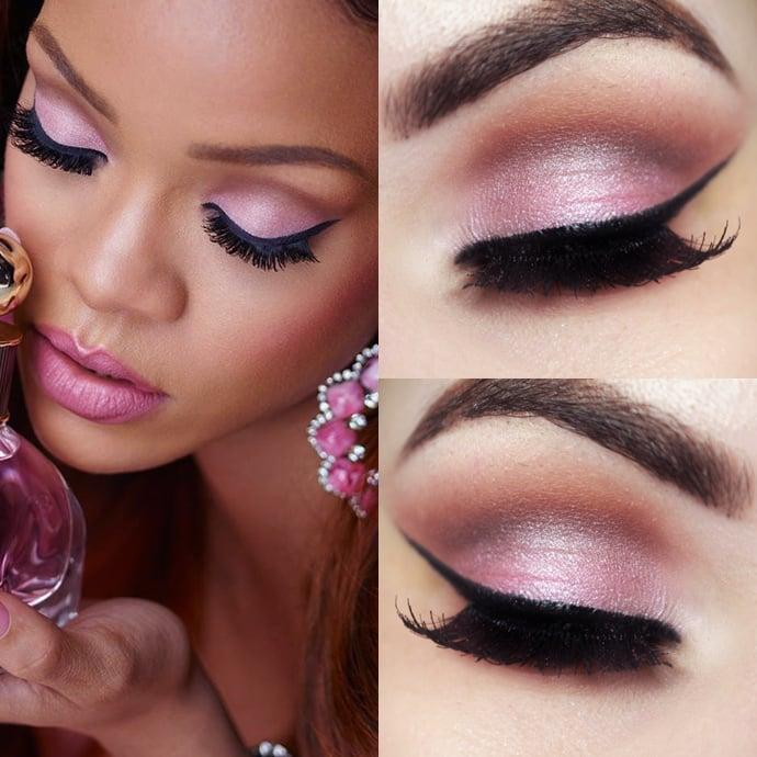 Rihanna maquillaje rosado para piel morena