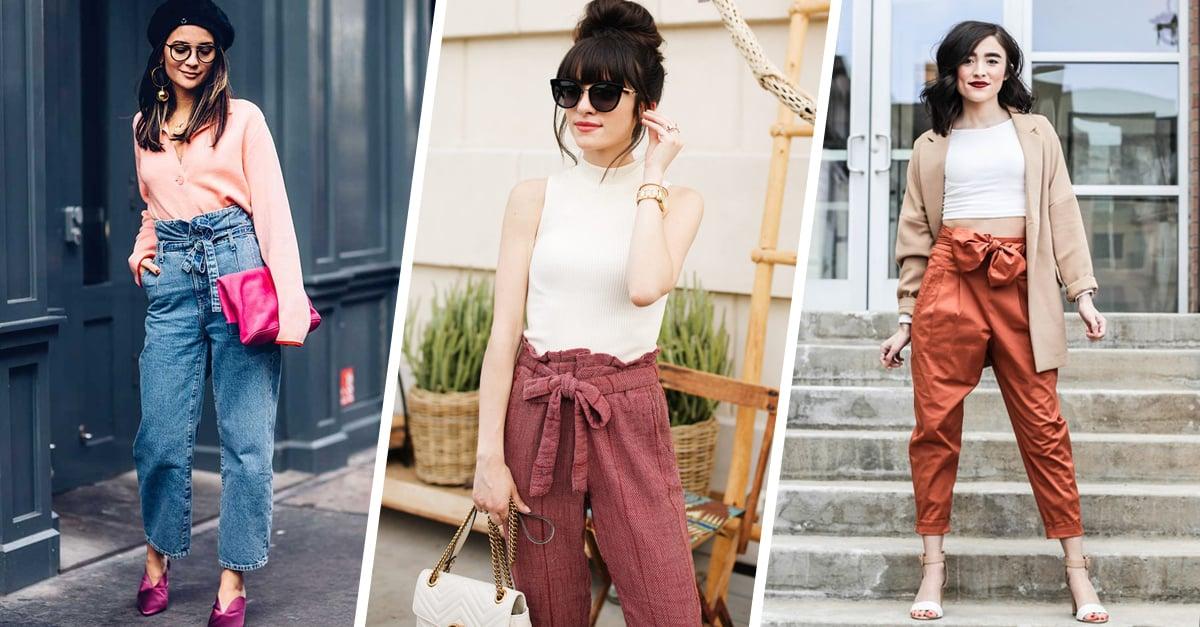 15 Lindas Maneras De Usar Tus Jeans Tipo Paper Bag