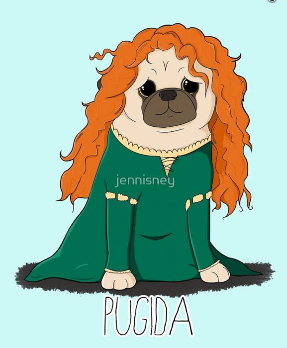 caricaturas de pugs