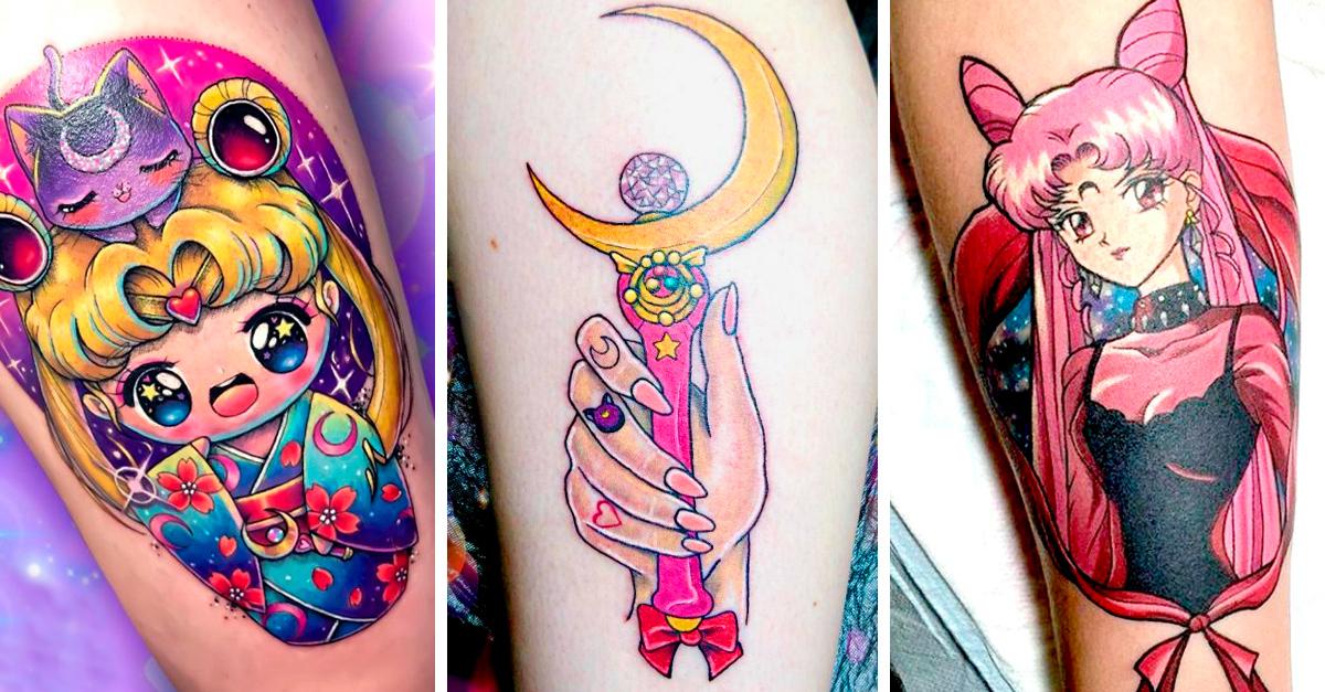 15 Increíbles tatuajes de Sailor Moon que te fascinarán en el nombre de la luna