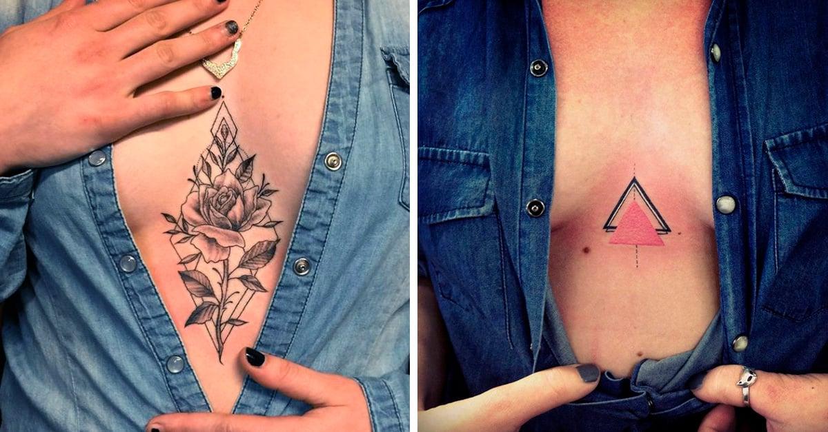 15 hermosas ideas para hacerte un tatuaje en el escote