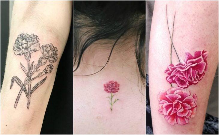 claveles enero tatuajes ideas