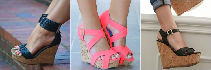 wedges de tacon de corcho