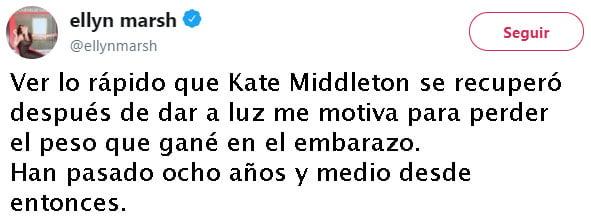 tuits sobre kate middlelton
