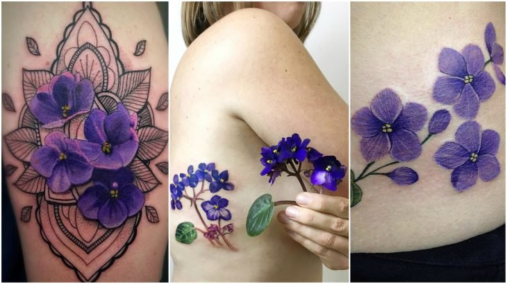 flores del nacimiento tatuaje febrero violeta