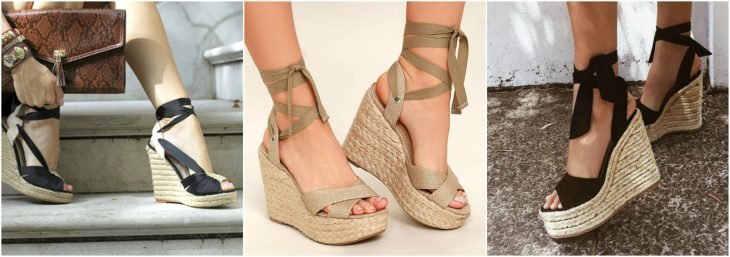 wedges de tacon de mecate