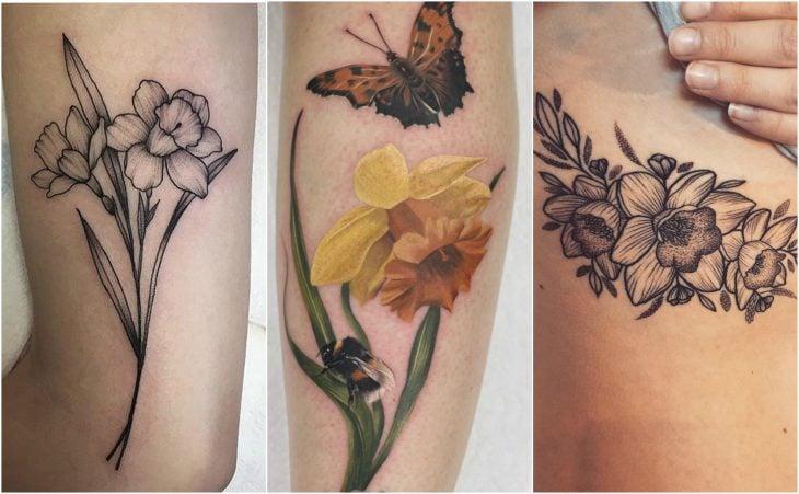 narciso marzo tatuaje flor de nacimiento