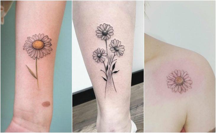 margaritas daisy tattoo flor del nacimiento abril