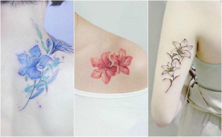 mayo lirio lily flor del nacimiento tatuaje