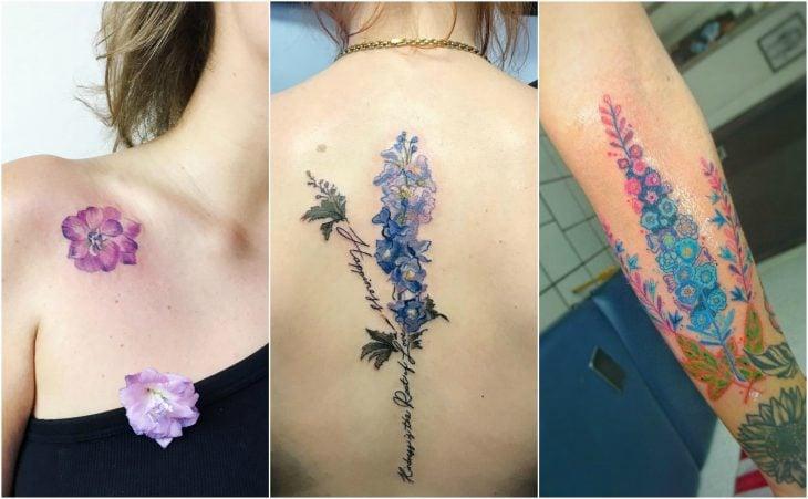 delfinium julio tatuaje flor de nacimiento